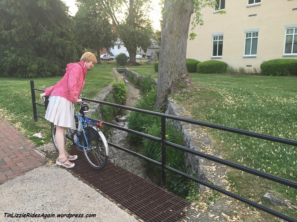 Wearing the Bicycle Wrap Skirt in Shepherdstown, WV