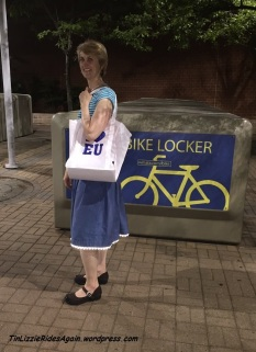 No Pattern denim skirt with reflective rick rack