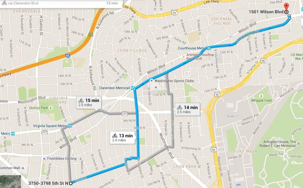 Google Map Commute Options