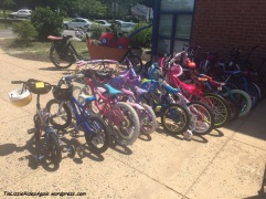 Lots and lots of kids bikes....