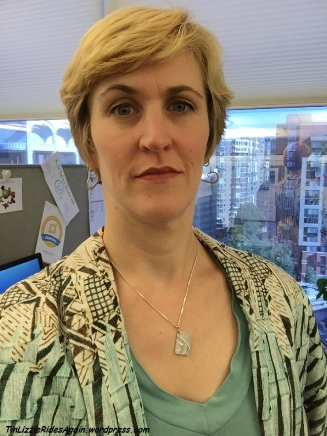Blazer and necklace back at work