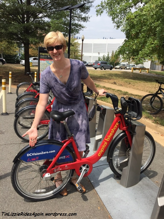 A DC Vision Zero Capital Bikeshare bike in Arlington! I didn't use it so I didn't Tweet about how it kept me safe, but if you ride one, be sure to read this article and Tweet!