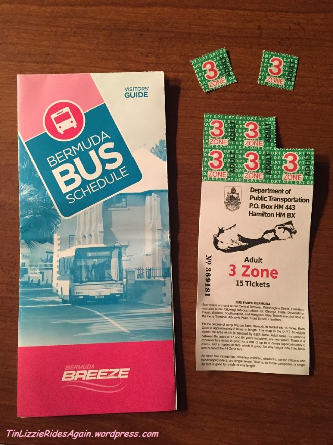 Our bus schedule and remaining bus tickets
