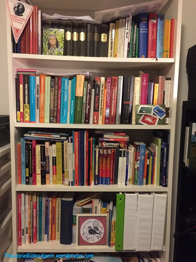 Four shelves of German books and I need a language refresher!