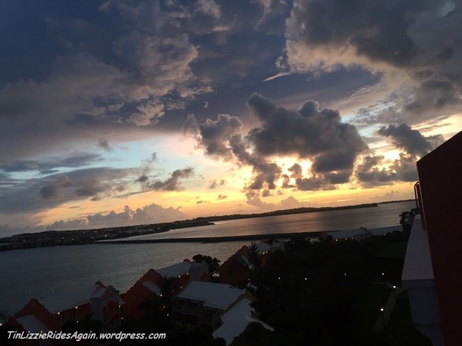 The good-bye sunrise....