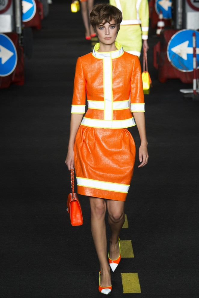Love all this! ---> Jeremy Scott for Moschino (Photo from Milan Fashion Week website)