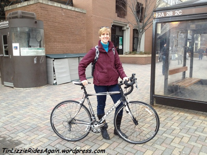 Bringing the bike home from REI, March 2012