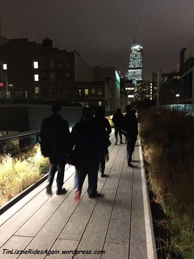 Walking on the Highline after our sugar bomb cocktail goblets