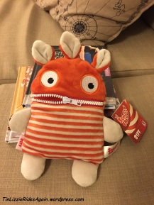 """This cutie is a Sorgenfresser, or """"worries eater"""" - you write your worries on a piece of paper and put them in his mouth, then zip it closed. Voila! Your worries are gone! I love this!"""
