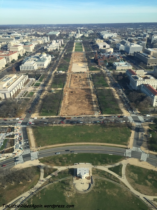 Sometimes a different perspective is all that is needed to want to make a change. Here, the National Mall as viewed from the Washington Monument, on a recent, perfectly clear day.