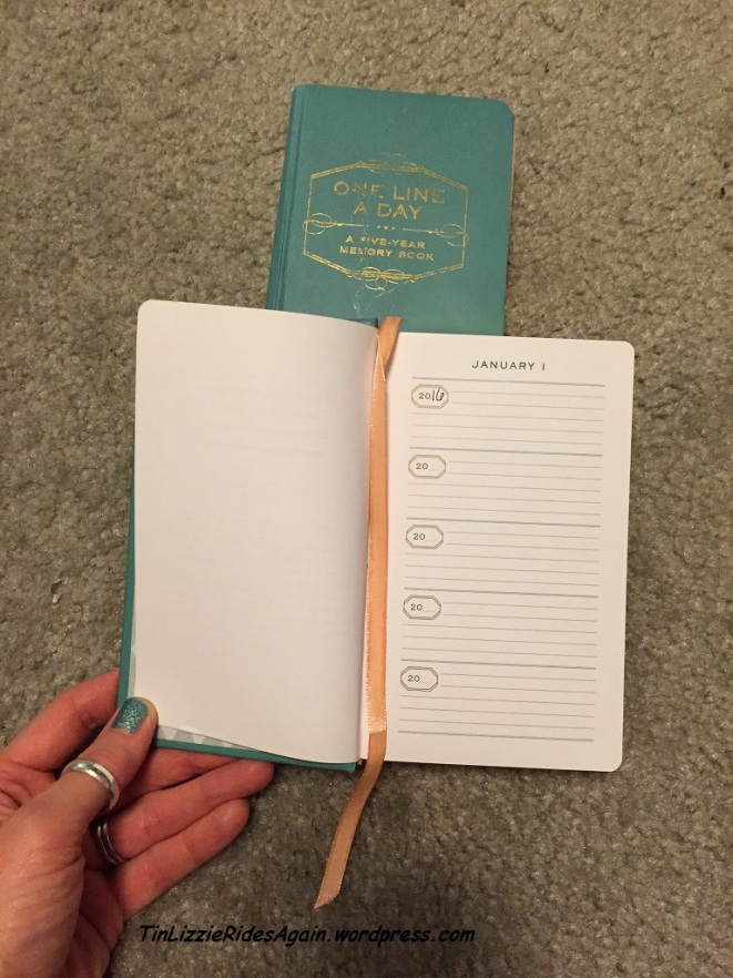 "I love this ""Line a Day"" Five Year journal, and this year I get to start a brand new one. What will these pages hold at the end of it?!"
