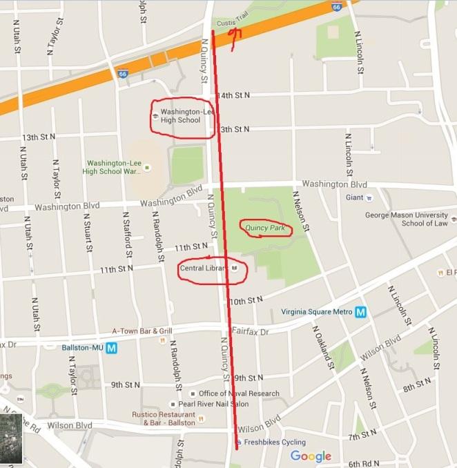 Quincy Street Map