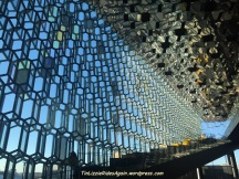 Inside Harpa, the opera house