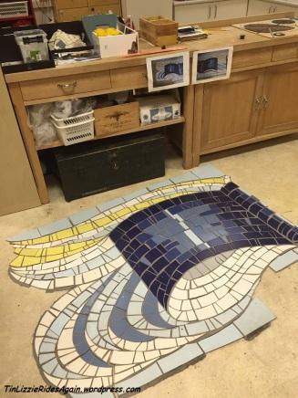 a mosaic in progress