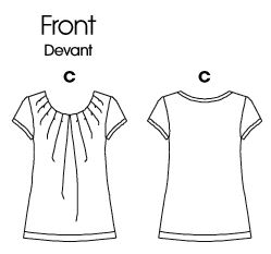 I'm hoping to do version C, with the short sleeves