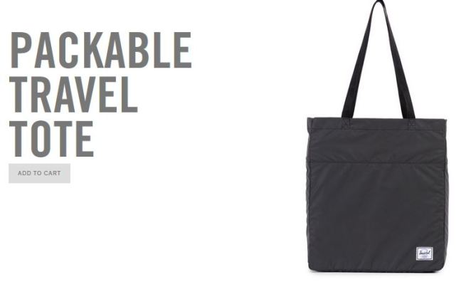 Herschel Supply Co Reflective Tote, image from website