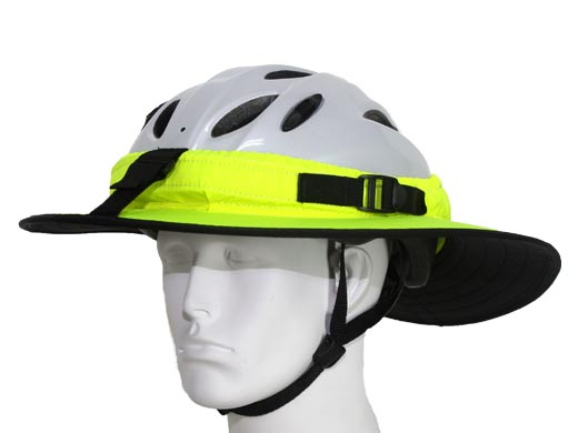 Da Brim, a fabric brim that attaches to a bike helmet (other colors are available!) - Image from Da Brim website
