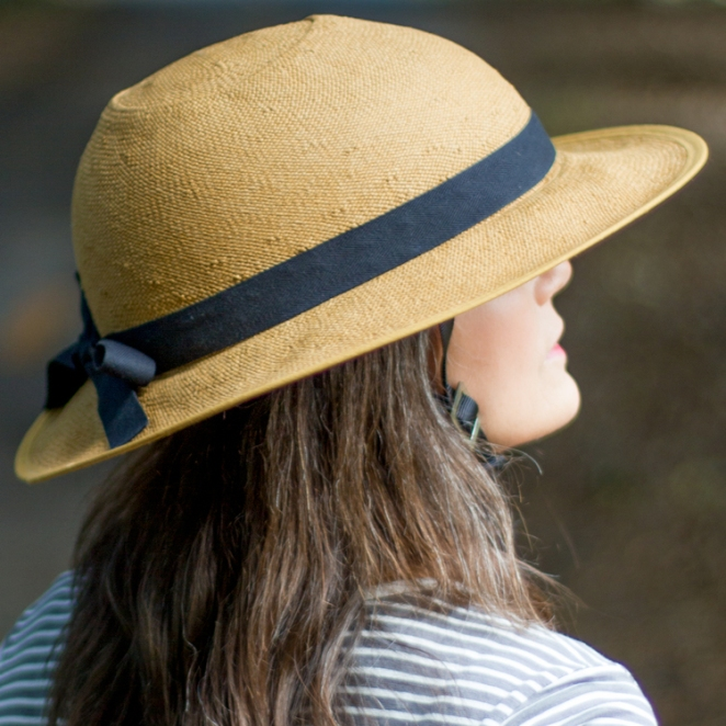 Straw bike helmet currently being sold by Bike Pretty - summer itself! Image from the Bike Pretty website