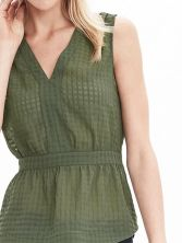 Banana Republic Peplum Top_Olive