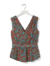 Banana Republic Peplum Top_Paisley