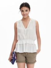 Banana Republic Peplum Top_White