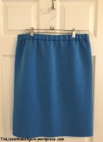 Blue Scuba Skirt