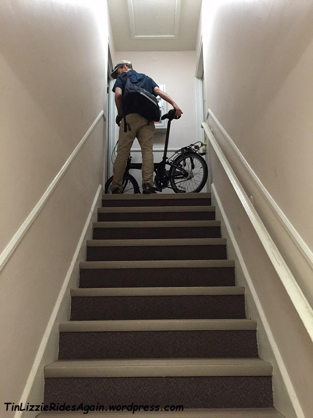 Folding Bike on Stairs