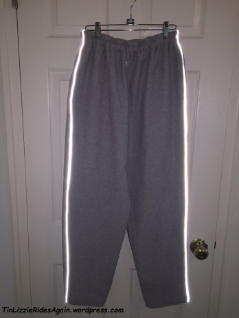 Gray Linen Pants Reflecting