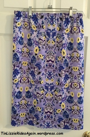 Purple Print Scuba Skirt