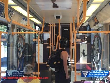Bikes on the streetcar