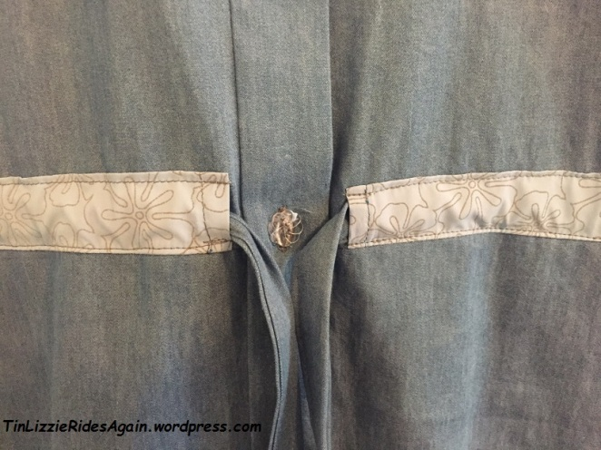 MCalls dress trim and button