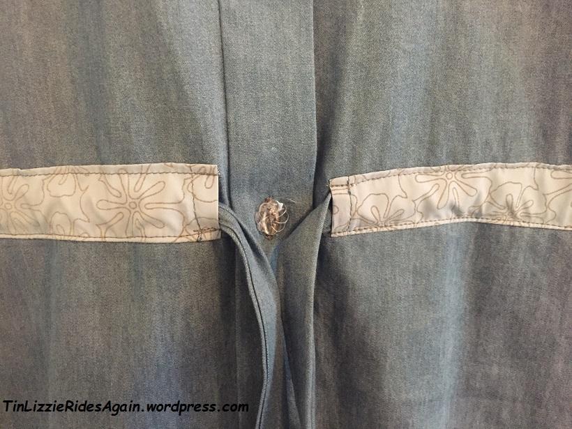 MCalls dress trim and button