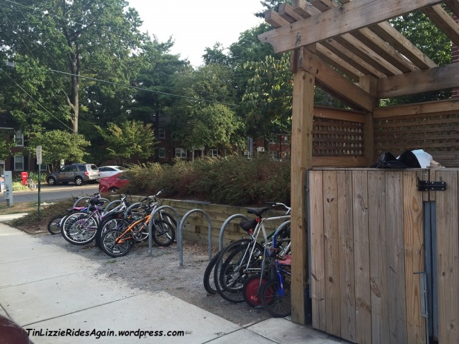 Speaking of covered bike storage - they could build fancy fences and covers for the dumpsters but not for the bikes?!?