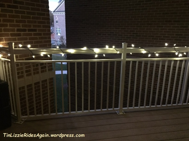 Hooray for balcony lights!!!