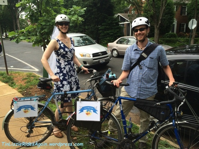 We biked to our civil ceremony in Arlington, VA