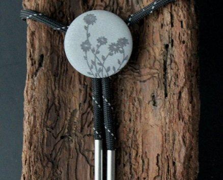 Reflective Society Daisy Bolo Tie (image from reflectivesociety.com)