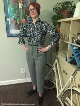 Gray Paperbag Pants 1