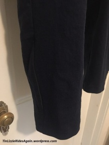 Navy Burda Pants Black reflective piping