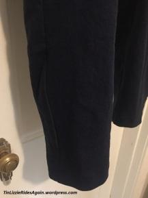Navy Burda Pants Black reflective piping
