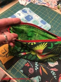 zip pouch_jungle birds